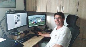 Papíroví modeláři: Pavel Skokan připravuje v Ábíčku modely už od základky
