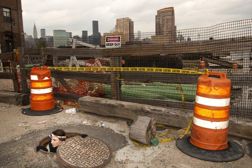 Východ z kanalizačního systému v New Yorku