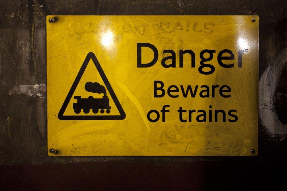 Značka v londýnském podzemí