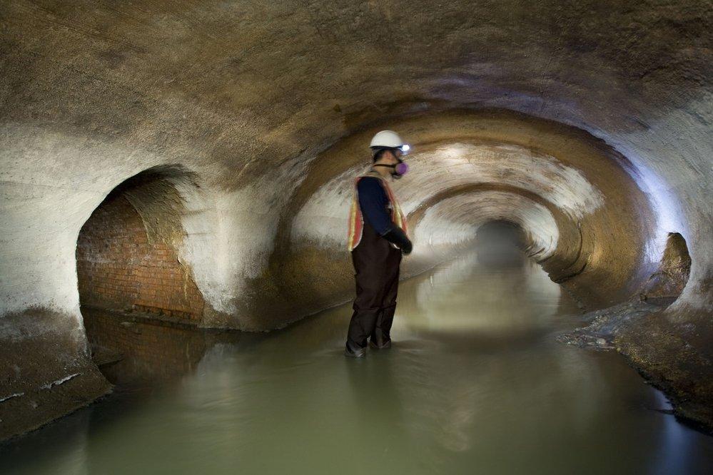 Tunel pod New Yorkem vybudovaný na místě dřívějšího Sunwickského potoka