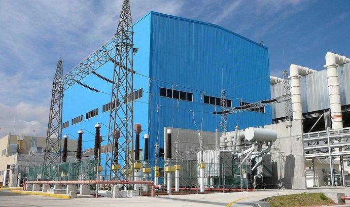 Paroplynová elektrárna v mexické Tule