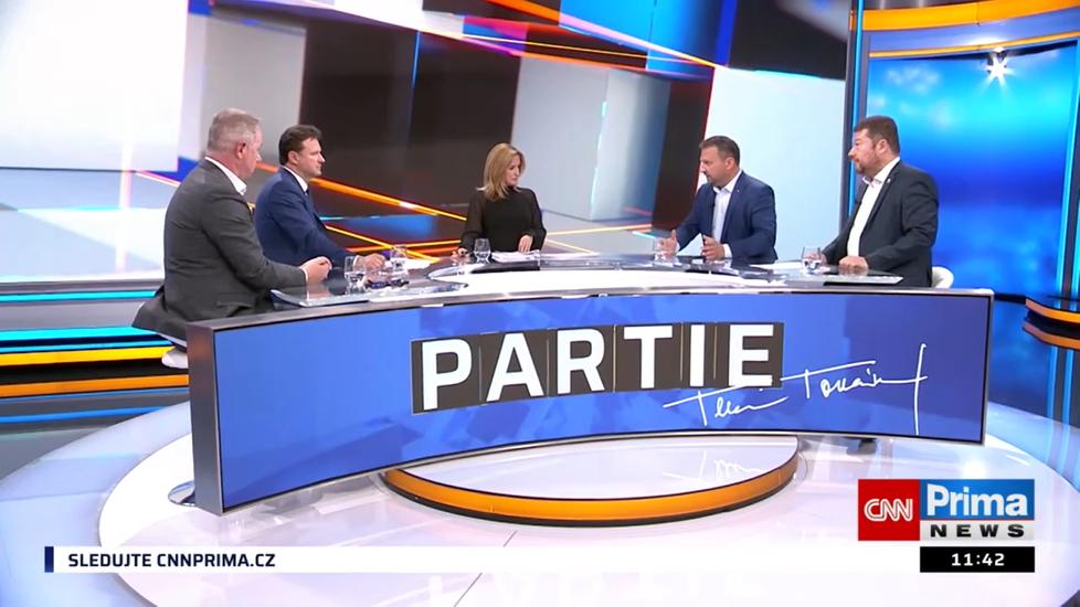 O povolebním uspořádání diskutovali v Partii TV Prima zástupci stran a koalic, které uspěly ve volbách.