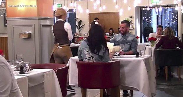 Eve a Jordan na večeři v pořadu První rande