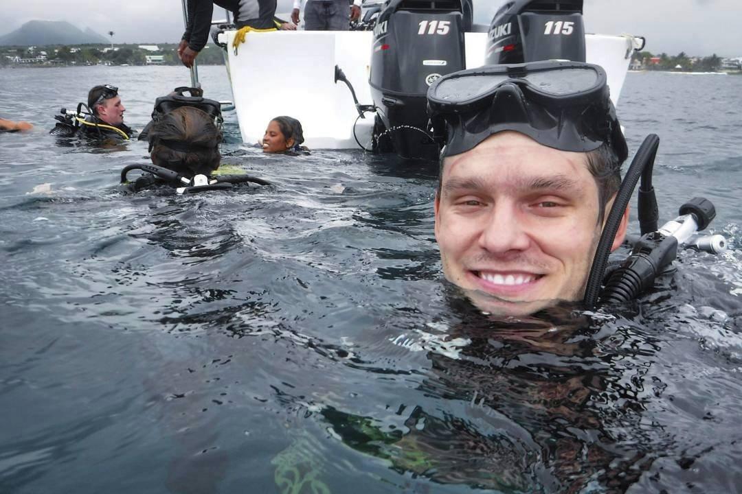 Pavel Callta na dovolené na ostrově Mauricius.