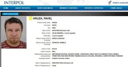 Interpol pověsil fotku uneseného Čecha na své webové stránky.