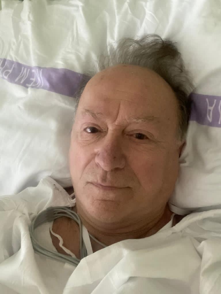 Petr Janda v nemocnici