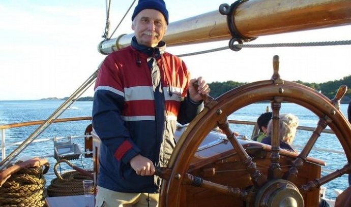 Petr Ondráček na své jachtě