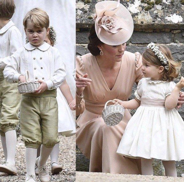Princ George a princezna Charlotte na svatbě Pippy Middleton