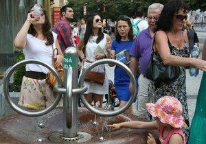 Drinking fountain in Na Příkopě Street in Prague 1.