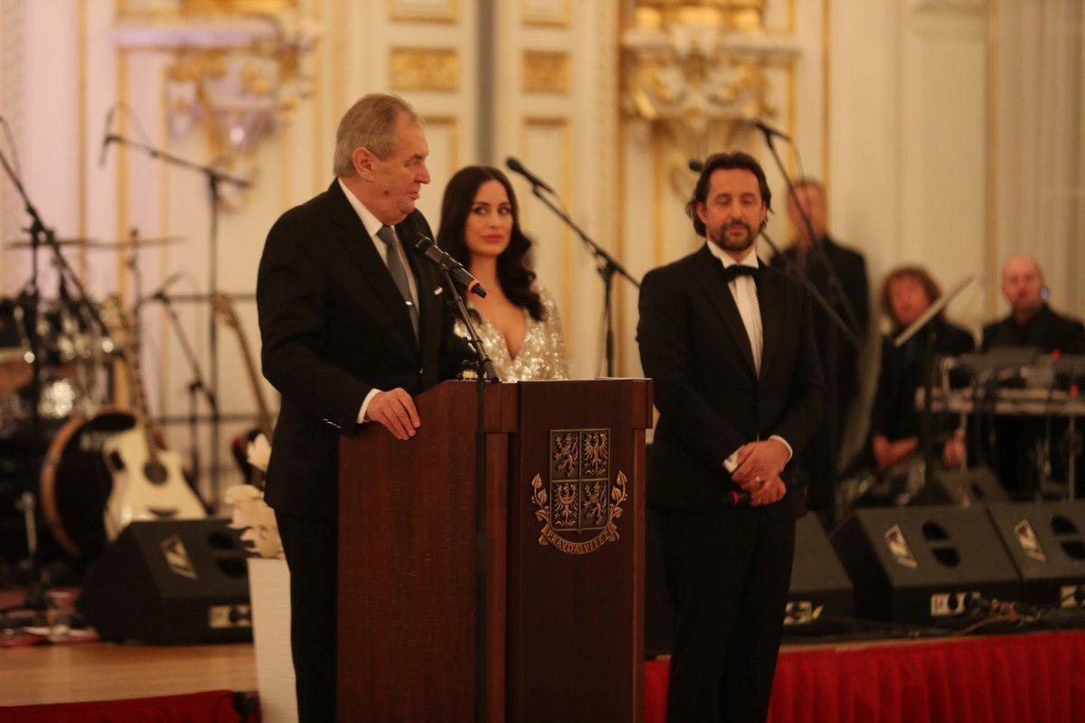 Prezident Miloš Zeman během projevu při zahájení pátého charitativního plesu na Pražském hradě.(10.01.2020)