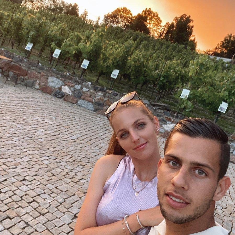 Tenistka Kristýna Plíšková se svou láskou fotbalistou Dávidem Hanckem.