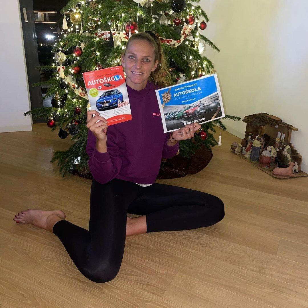 Karolína Plíšková si letos užila klidnější Vánoce.