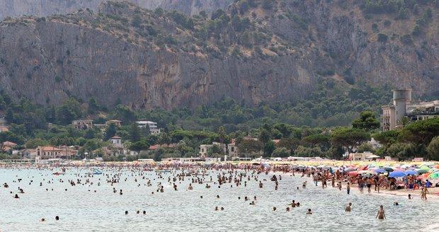 Úmorná vedra v Itálii.