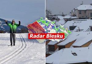 Na horách už napadlo, kdy začne sněžit i v nižších polohách? Sledujte radar Blesku.