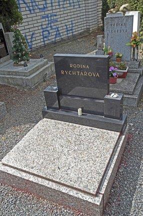 Hrob Rychtářovy rodiny už je vyčištěný. Iveta do něj ale nesmí.
