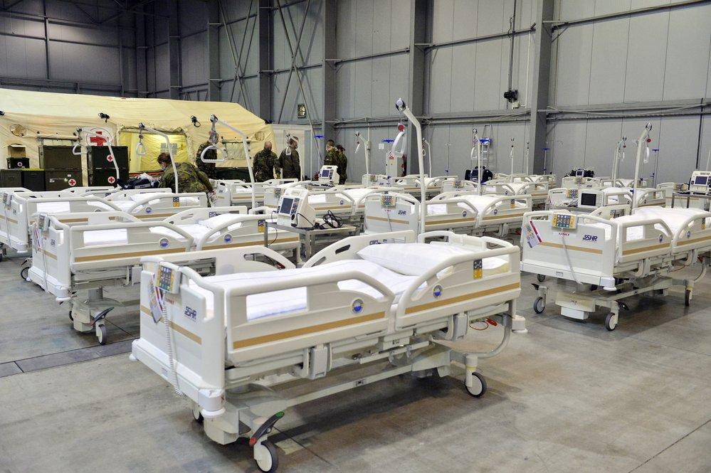 Polní nemocnice na Letňanském výstavišti PVA EXPO PRAHA