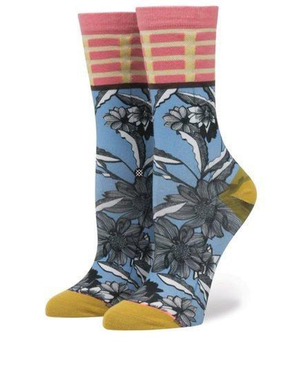 Modré dámské vzorované ponožky Stance Newspaper Flower, Zoot, 389 Kč