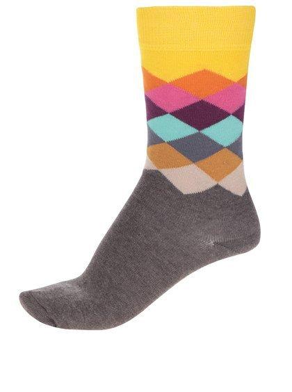 Žluto-hnědé unisex ponožky Happy Socks Faded, Zoot, 249 Kč