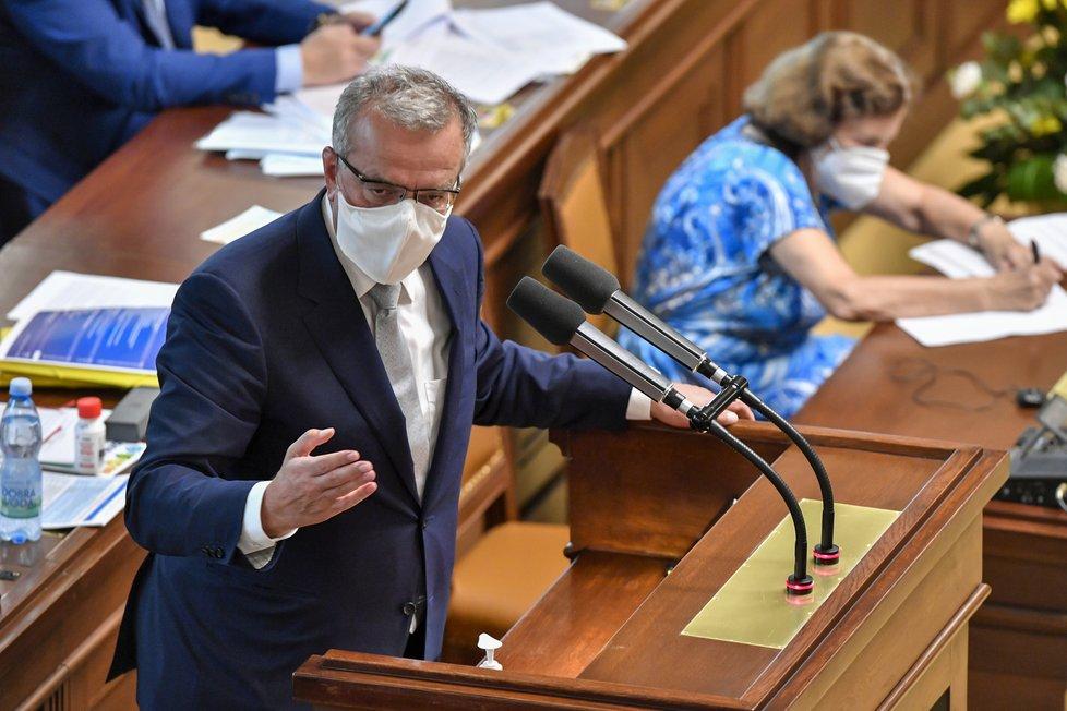 Předseda Poslaneckého klubu TOP 09 Miroslav Kalousek na schůzi Poslanecké sněmovny. (15.9.2020)