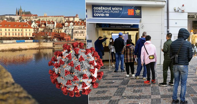 Koronavirus v Praze: Za týden přibylo 646 případů, nárůst dál zrychluje