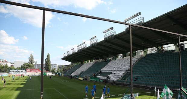 Stadion Bohemians 1905 v pražských Vršovicích.