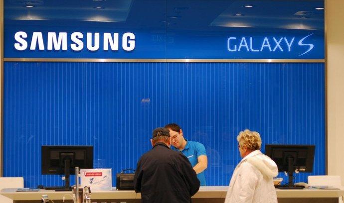 Pražská prodejna Samsungu