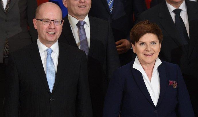 Předseda české vlády Bohuslav Sobotka a polská premiérka Beata Szydlová