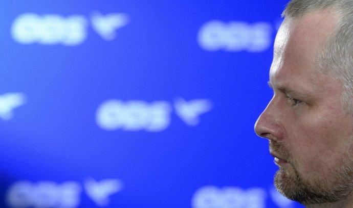 Předseda ODS Petr Fiala ve volebním středisku Občanské demokratické strany v Praze