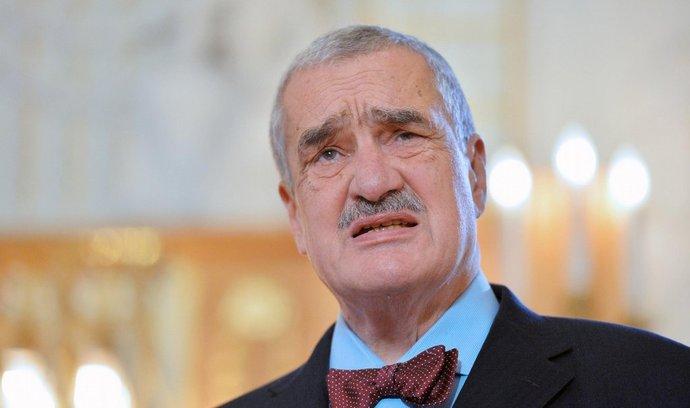 Předseda TOP 09 Karel Schwarzenberg