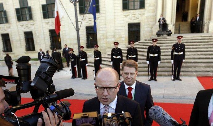 Premiér Bohuslav Sobotka na summitu na Maltě