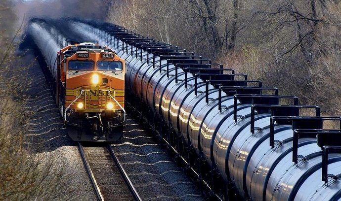 Přeprava ropy po železnici, USA