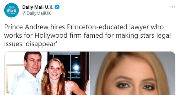 Princ Andrew si najal špičkovou právničku.