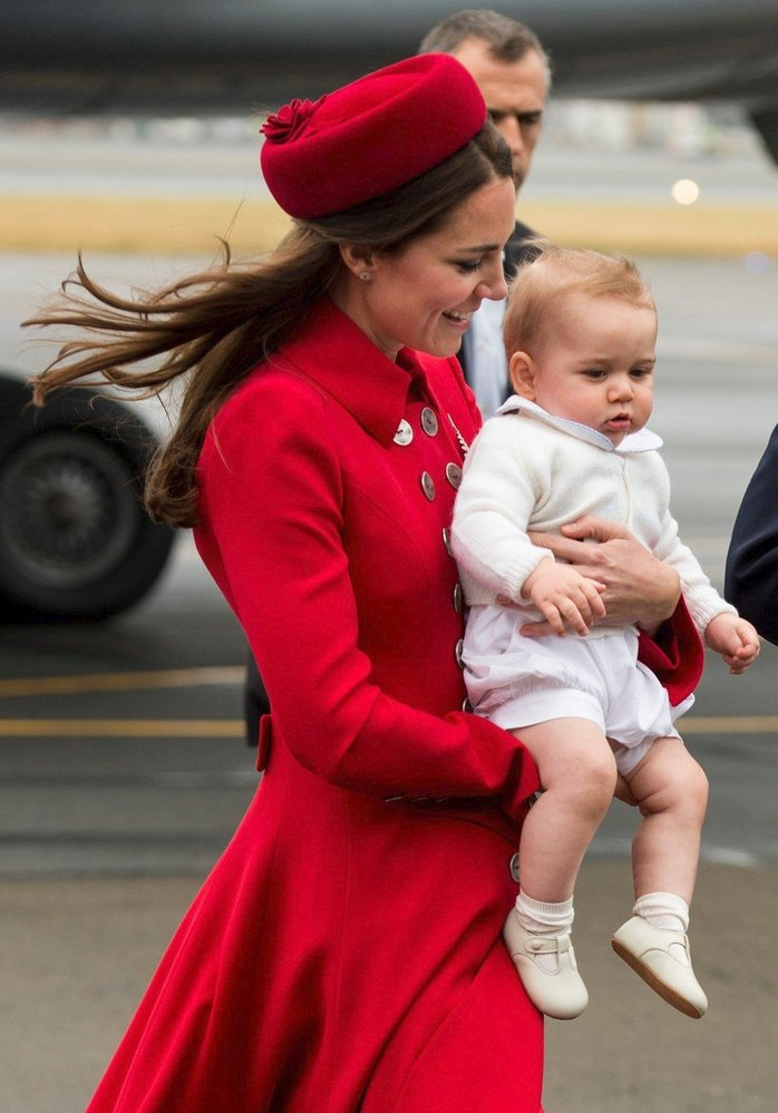 Devítiměsíční George na návštěvě Nového Zélandu, 2014