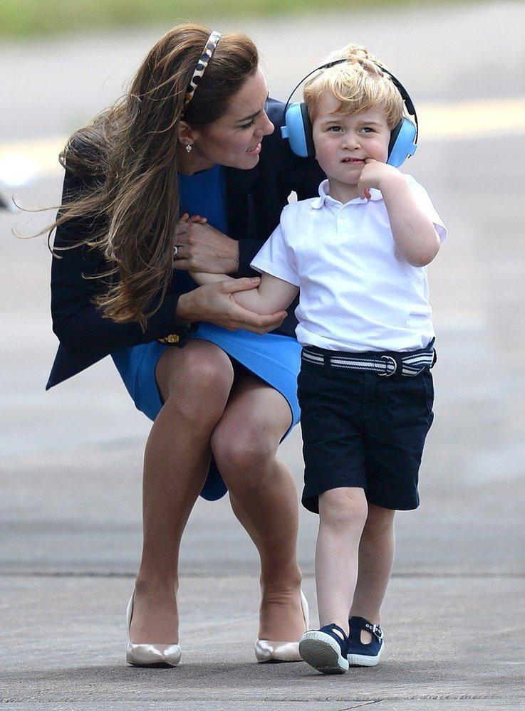 Malý princ George na letecké show v Gloucestershire, 2016