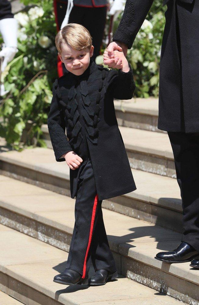 Princ George na svatbě strýčka Harryho a Meghan, 2018