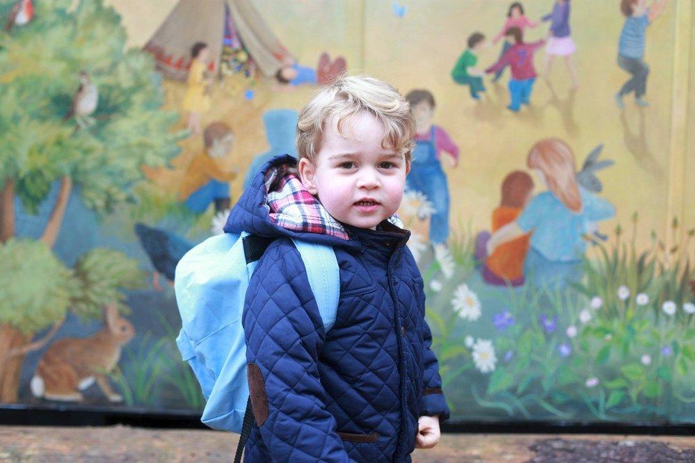 Princ George na cestě do školky, 2016