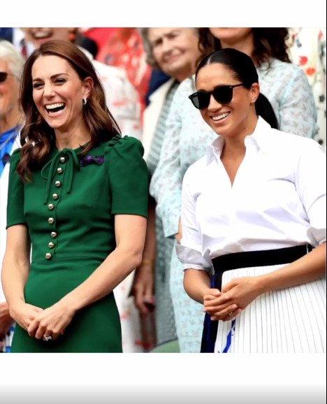 Kate a Meghan na Wimbledonu.