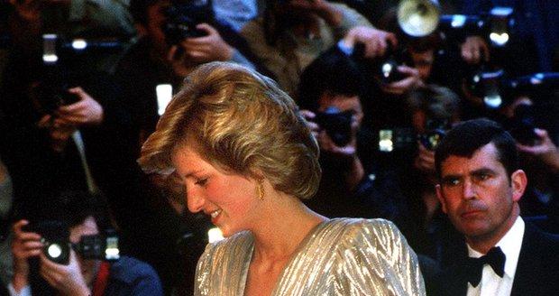 Princezna Diana na premiéře bondovky Vyhlídka na vraždu v roce 1985.