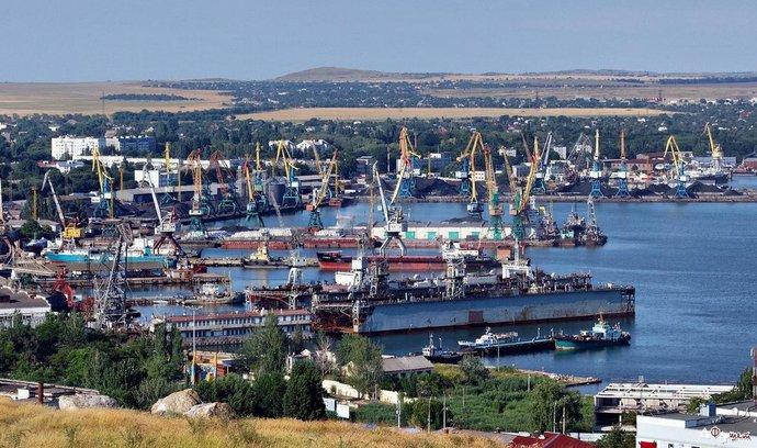 Přístav krymského města Kerč
