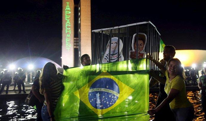 Protesty v hlavním městě Brazílie proti prezidentce Rousseffové