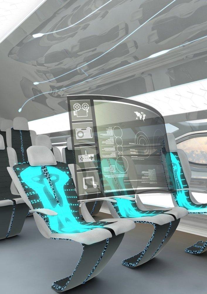 Průhledné letadlo budoucnosti