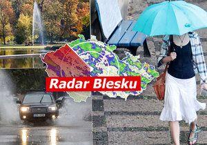 Do Česka přijdou bouřky, sledujte Radar Blesku.