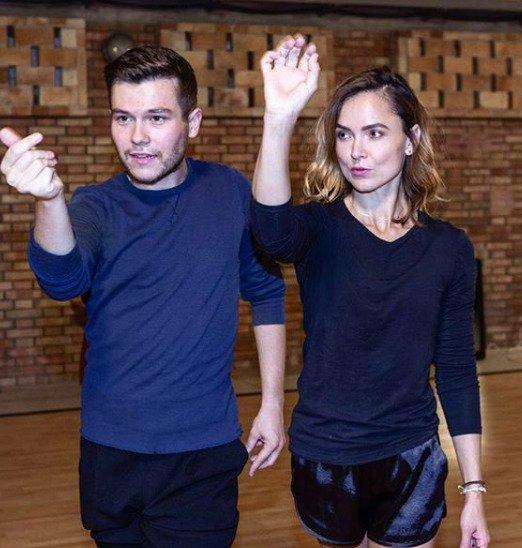 Radka Třeštíková a Tomáš Vořechovský trénují na další taneční číslo