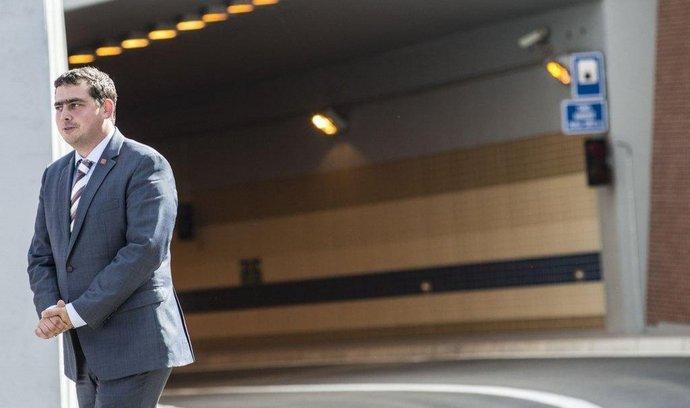 Radní pro dopravu Petr Dolínek po otevření tunelu Blanka