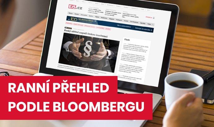 Ranní přehled podle Bloombergu