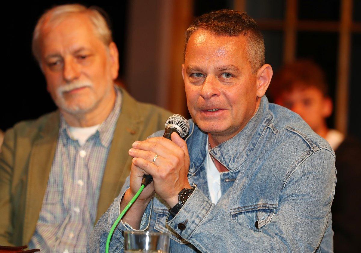Filip Renč a Zdeněk Zelenka na tiskové konferenci
