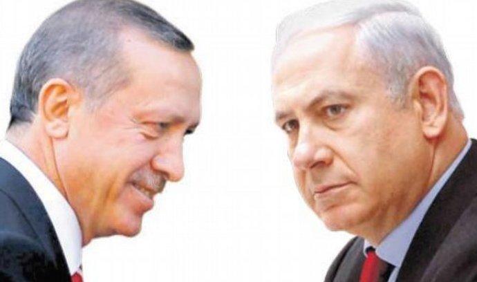 Recep Erdoğan a Benjamin Netanjahu