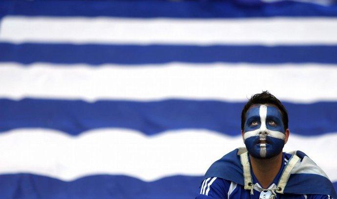 řecký fotbalový fanoušek
