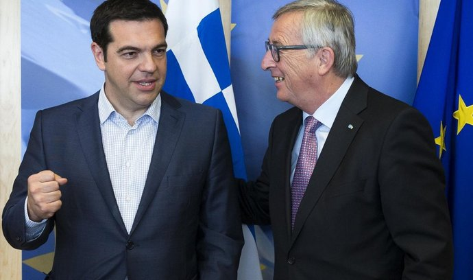řecký premiér alexis Tsipras (vlevo) a předseda Evropské komise Jean-Claude Juncker.