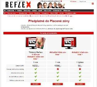 Reflex - předplatné